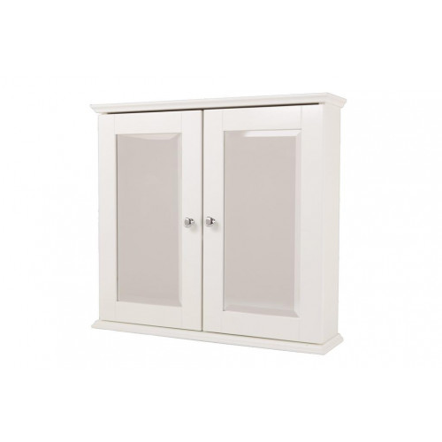 New England White Double Mirror Cabinet 600mm x 550mm