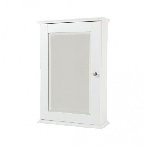 New England White Single Mirror Cabinet 400mm x 600mm