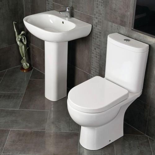 RAK Tonique Toilet & Basin Bathroom Suite - 1 Tap Hole