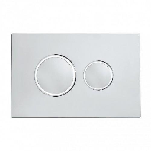 Traditional Dual Flush Push Plate - Chrome