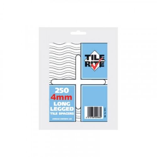 4mm Long Leg Tile Spacers (Bag Of 250)