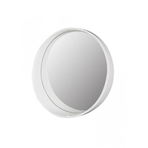 Tuscany White Round Framed Mirror 600mm
