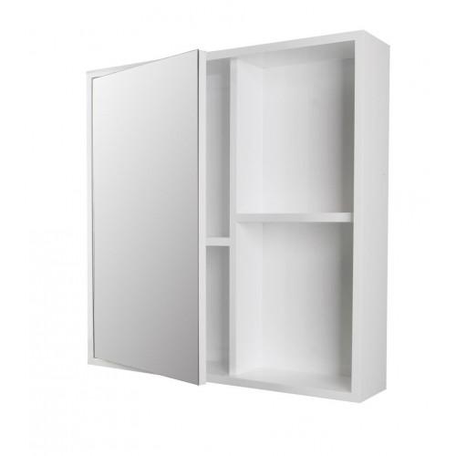Turin White Mirror Shelf Cabinet 600mm x 600mm