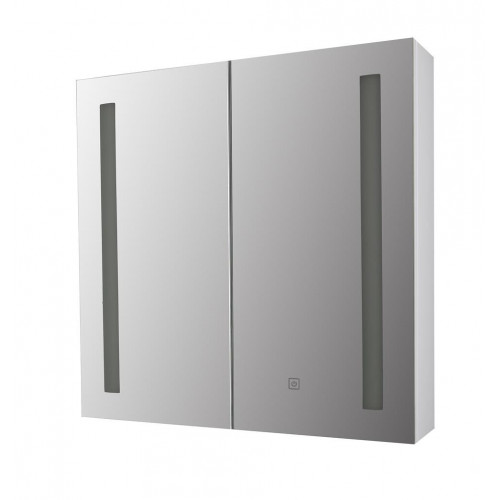Vienna White Double LED Mirror Cabinet 600mm x 600mm