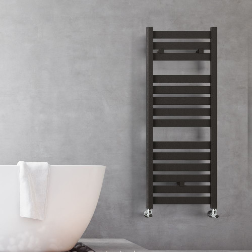 Valencia Anthracite Flat Panel Designer Towel Rail 500mm x 1150mm