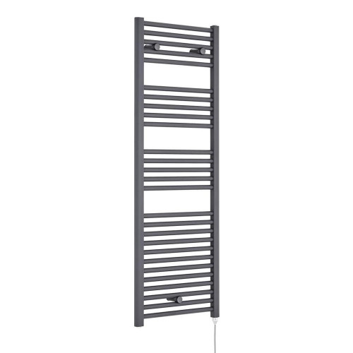 Visage 480mm x 1375mm Electric Heated Towel Rail - Anthracite (750W)