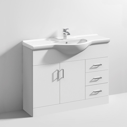 Mayford 1050mm Floor Standing Cabinet & Basin - 1 Tap Hole