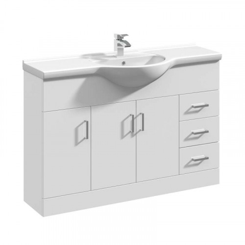 Mayford 1200mm Floor Standing Cabinet & Basin - 1 Tap Hole