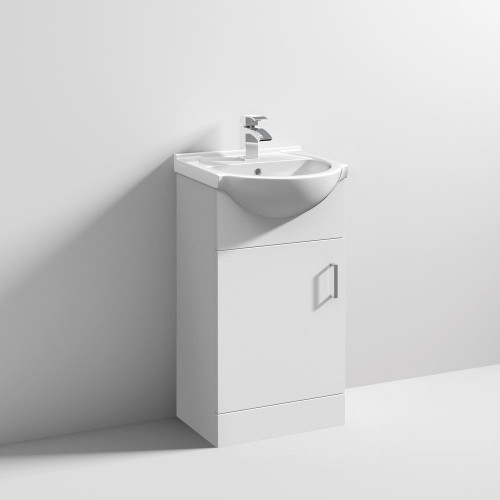 Mayford 450mm Floor Standing Cabinet & Basin - 1 Tap Hole