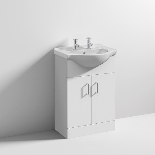 Mayford 550mm Floor Standing Cabinet & Basin - 1 Tap Hole