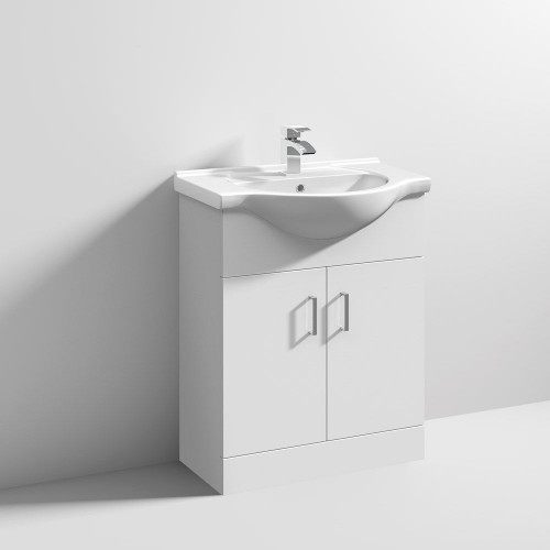 Mayford 650mm Floor Standing Cabinet & Basin - 1 Tap Hole