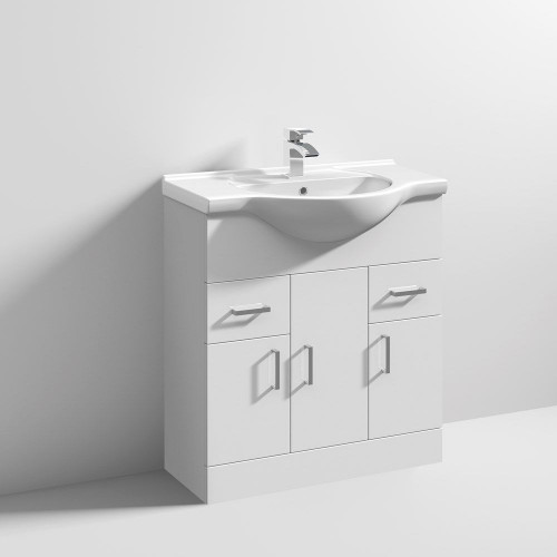 Mayford 750mm Floor Standing Cabinet & Basin - 1 Tap Hole