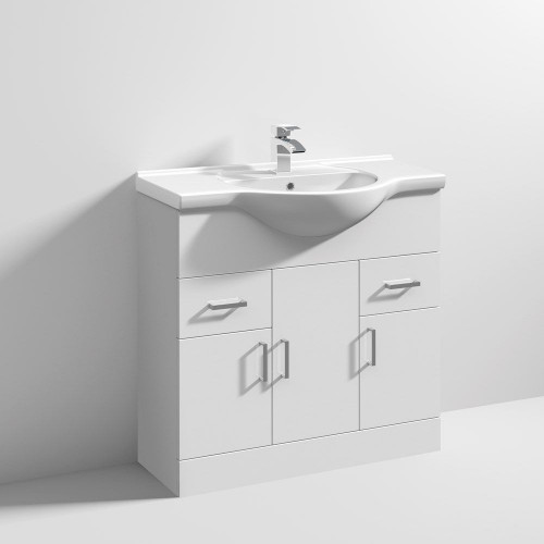 Mayford 850mm Floor Standing Cabinet & Basin - 1 Tap Hole