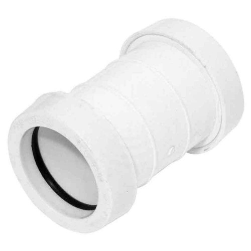 Push-Fit Straight Coupling 40mm White
