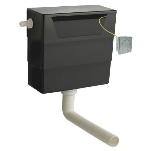 Hudson Reed Universal Access Cistern & Chrome Square Flush Plate