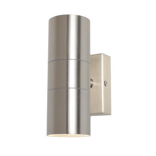 Zinc Leto Up & Down Outdoor Wall Fitting - Stainless Steel