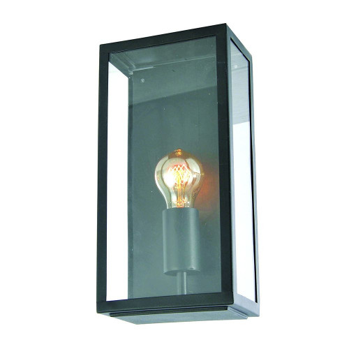Zinc Minerva Stainless Steel Box Lantern - Black