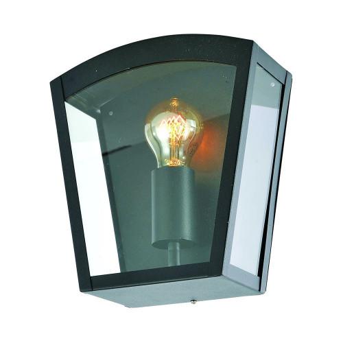 Zinc Artemis Stainless Steel Curved Box Lantern - Black